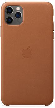 Apple Leder Case (iPhone 11 Pro Max) Sattelbraun