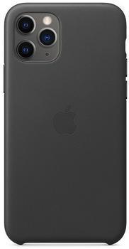 Apple Leder Case (iPhone 11 Pro) Schwarz