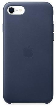 Apple Leder Case (iPhone SE 2020) Mitternachts Blau