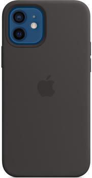 Apple Silikon Case mit MagSafe (iPhone 12/12 Pro) Schwarz