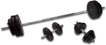 Hammer 76 kg Lang- und Kurzhantel-Set