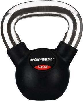 Sport-Thieme Kettlebell gummiert mit glattem Chrom-Griff 4 kg