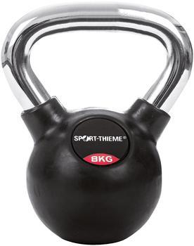 Sport-Thieme Kettlebell gummiert mit glattem Chrom-Griff 8 kg