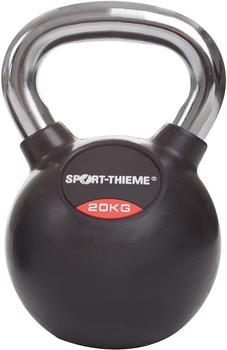 Sport-Thieme Kettlebell gummiert mit glattem Chrom-Griff 20 kg