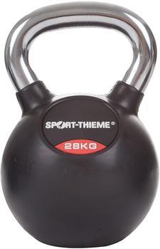 Sport-Thieme Kettlebell gummiert mit glattem Chrom-Griff 28 kg