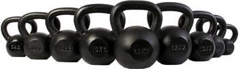 POWRX Black Painted Kettlebell 4 - 20 kg