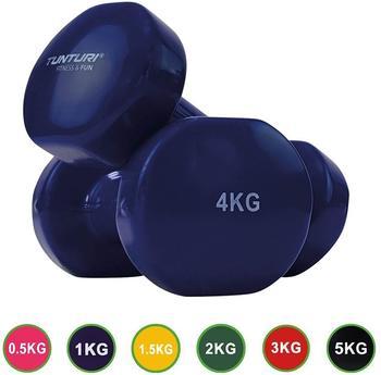tunturi-kurzhanteln-vinylbeschichtung-4-kg