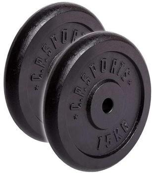 C.P. Sports Hantelscheiben Guss 15 kg
