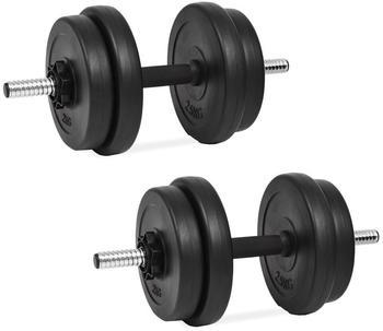 vidaXL Set of 2 dumbbells with weights
