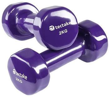 TecTake Vinyl fitness dumbbell set 2,0 kg
