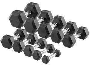 Sport-Tec Hex Kurzhantel-Set 1-10 kg, 10 Stück
