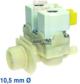 EUROPART Magnetventil Ventil 2-fach 180° 10,5 mm Waschmaschine wie Bosch Siemens 087076