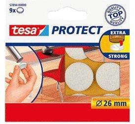 Tesa 57894-00 Protect Filzgleiter weiß (26 mm)