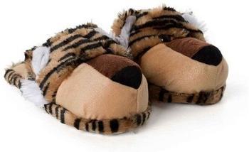 funslippers Tiger Löwen Pantoffeln braun