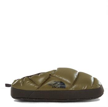 The North Face Men's NSE Tent Slippers III - Shiny Burnt Olive Green/Black Ink Green