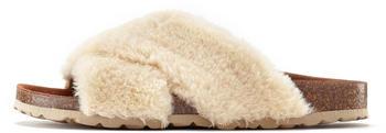 Lascana Fake Fur Slides beige