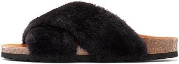 Lascana Fake Fur Slides black