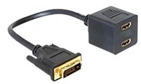 DeLock 65069 Adapter DVI 25 Stecker zu 2x HDMI Buchse