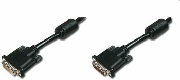 Digitus DVI Anschlusskabel [1x DVI-Stecker 24+1pol. - 1x DVI-Buchse 24+1pol.] 10 m Schwarz
