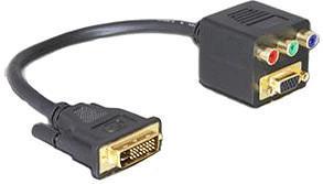 DeLock 65061 Adapter DVI29 Stecker zu VGA + 3xCinch Buchse (0,2m)