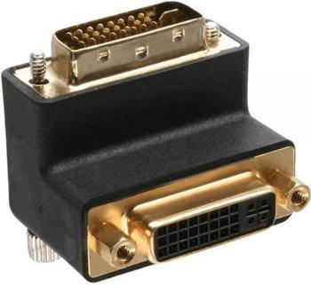InLine 17781W DVI-I Adapter, 90° gewinkelt, digital+analog 24+5 St/Bu