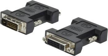 Digitus DVI Adapter [1x DVI-Stecker 24+1pol. - 1x DVI-Buchse 24+5pol.] Schwarz