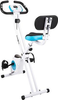 Klarfit Klarfit Azura Comfort Fahrrad-Heimtrainer Rückenlehne klappbar 100kg