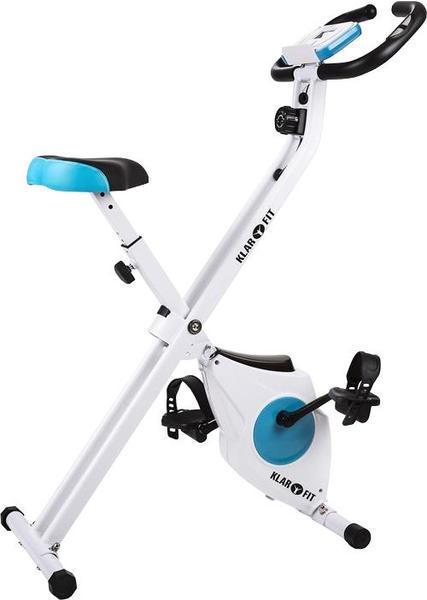 Klarfit Azura Fahrrad-Heimtrainer klappbar Pulsmesser 100kg