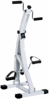 Homcom Heimtrainer Bewegungstrainer Pedaltrainer für Senioren Weiß