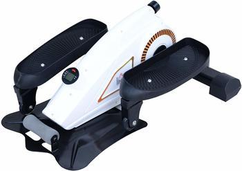 Homcom Mini Ellipsenmaschine Unter Desk Trainer mit LCD Monitor Schwarz Weiß
