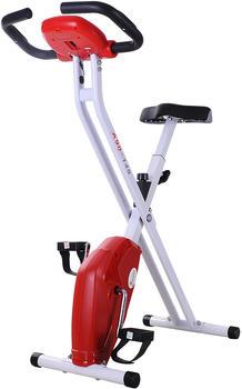Homcom Heimtrainer Fahrrad rot/weiß