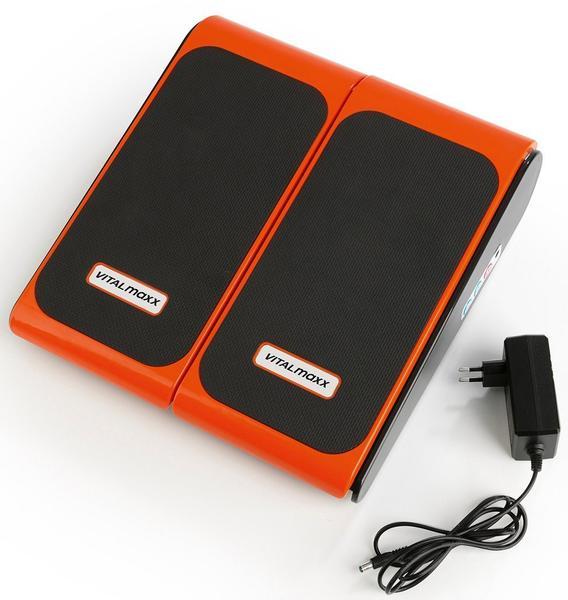 MAXXMEE Vibrationsplatte Training & Massage schwarz/orange