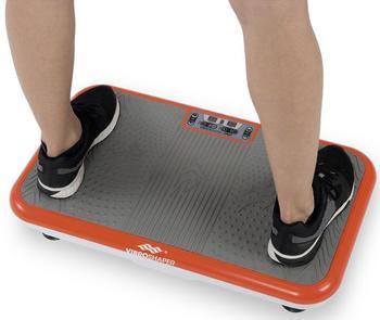 VibroShaper™ Vibrationsplatte, 200 W, 3 Intensitätsstufen, (Set, 2 tlg., mit Trainingsbändern)