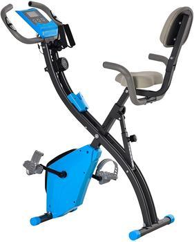 Homcom Heimtrainer Fahrradtrainer mit LCD Display blau