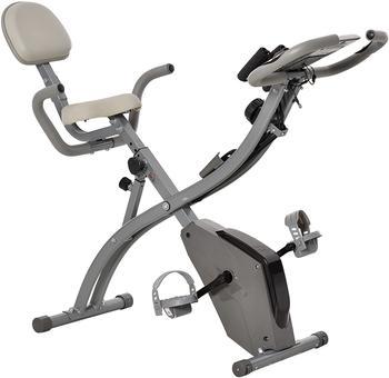 Homcom Heimtrainer Fahrradtrainer mit LCD Display grau