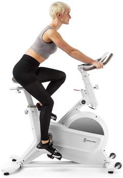 capital sports Aeris Heimtrainer 18kg Schwungmasse 8 Magnetwiderstände bis 120kg weiß