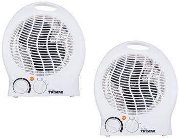 Tristar Elektroheizung in Weiß mit 3 einstellbaren Stufen und Thermostat im 2er Set