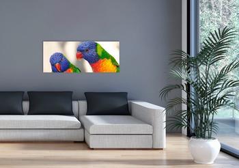 Marmony 800W Infrarot-Heizung Motiv Birds mit Thermostat MTC-35