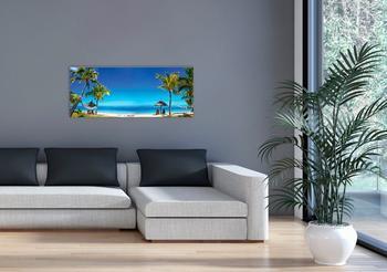 Marmony 800W Infrarot-Heizung Motiv Beach mit Thermostat MTC-35