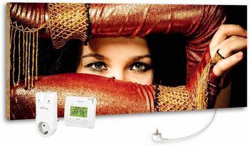Marmony 800W Infrarot-Heizung Motiv Arabic Eyes mit Thermostat MTC-35
