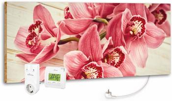 Marmony 800W Infrarot-Heizung Motiv Pink Orchidee mit Thermostat MTC-35