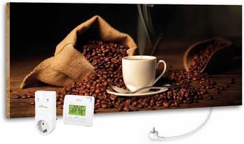 Marmony 800W Infrarot-Heizung Motiv Coffeetime mit Thermostat MTC-35