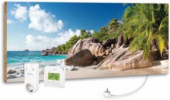Marmony 800W Infrarot-Heizung Motiv Blue Lagoon mit Thermostat MTC-35