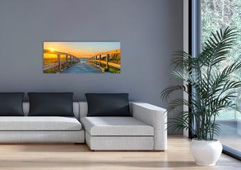 Marmony 800W Infrarot-Heizung Motiv Footbridge mit Thermostat MTC-35