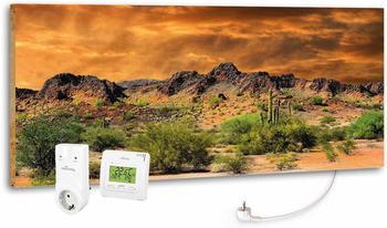 Marmony 800W Infrarot-Heizung Motiv Adventure Rocks mit Thermostat MTC-35