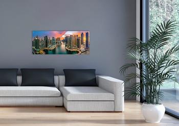 Marmony 800W Infrarot-Heizung Motiv Dubai Marinamit Thermostat MTC-35