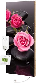 Marmony 800W Infrarot-Heizung Motiv Roses mit Thermostat MTC-35