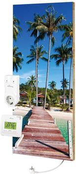 Marmony 800W Infrarot-Heizung Motiv Beach 2 mit Thermostat MTC-35