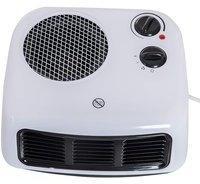 Homcom Heizlüfter Heizgerät Elektroheizer Heizer Heizung Wärme 1000W/2000W Weiß L26 x B24 x H12 cm