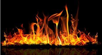 Papermoon Infrarotheizung Premium Decowatt Glas 750 W Feuer